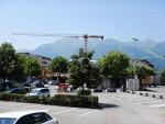 A lot of new buildings in Vaduz, Liechtenstein